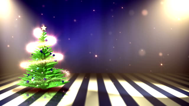 Christmas Tree with Decoration (Blue) - Background Loop video