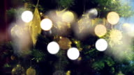 Christmas tree with fairy lights video