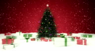 Christmas tree with gift box (Loopable) video