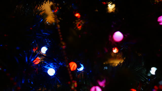 Christmas tree with ornaments video