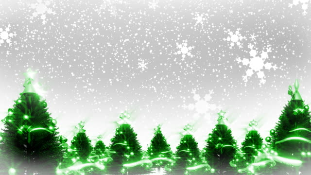 Christmas Trees and Snow (HD Loop) video