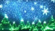 Christmas Trees and Snow (HD Loop) video