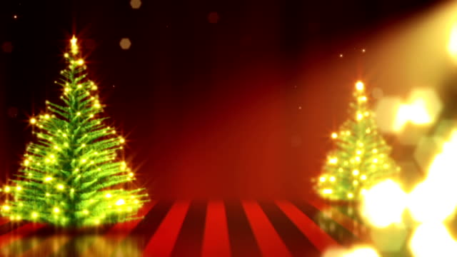 Christmas Trees Background - Loopable video