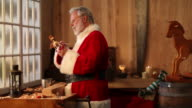 Christmas Video, Santa Claus Painting Toys in North Pole Workshop video