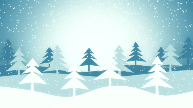 christmas winter scene loopable animation video