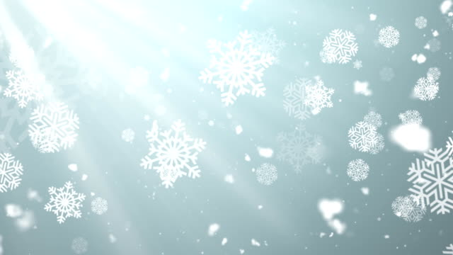 Christmas Winter Snowflakes 1 Loopable Background video