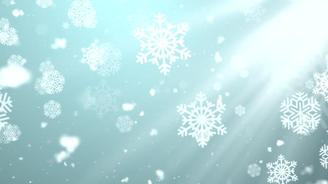 Christmas Winter Snowflakes 2 Loopable Background video