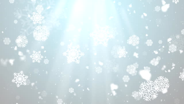 Christmas Winter Snowflakes 3 Loopable Background video