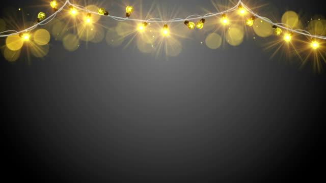 christmas yellow light bulbs loopable animation video