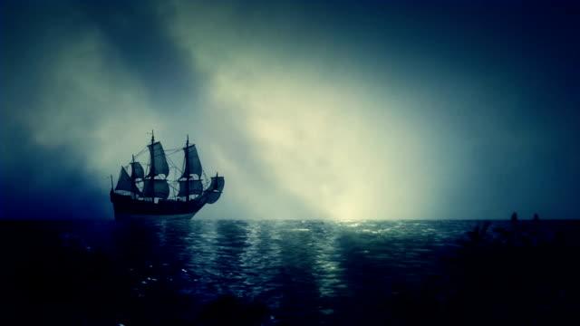 Christopher Columbus Santa Maria Sailing Ship Docking Close to Shore video