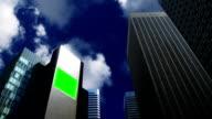 chroma key Billboard on a skyskraper video