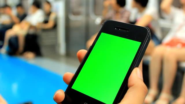Chroma key: using tablet on train video