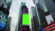 Chromakey Green screen Time Square New York City Manhattan video