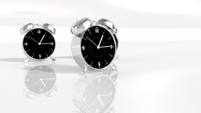 chrome metal clock count down 10 seconds video