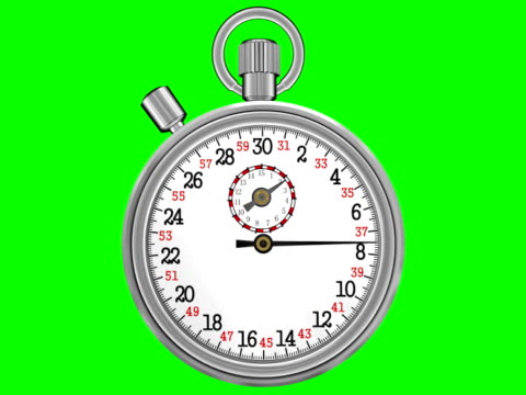 Chronometer Stopwatch with Green Screen (NTSC) video