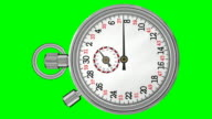 Chronometer Stopwatch with Green Screen (HD) video