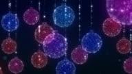 Chrsitmas Ornaments Blue Background video