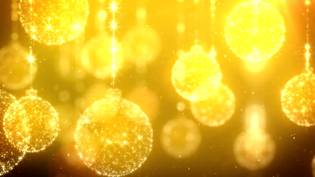 Chrsitmas Ornaments Gold Background video