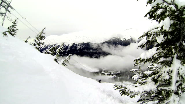 Chugach Mountains Alaskan Winter Sports Epic Powder Skiing Snowboarding and Gondola taking riders up the mountain to Ride video