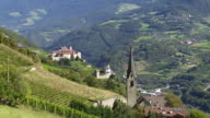 Church and Monastery in South Tyrol TILT UP video