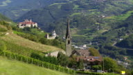 Church and Monastery in South Tyrol PAN video