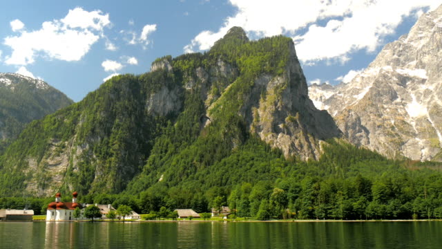 Church Bartholomae Koenigssee Berchtesgaden int he alps video