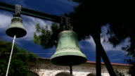 Church bells in medieval monastery video