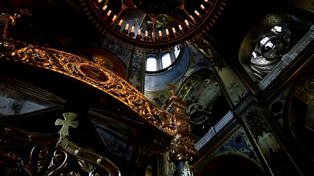 Church interior. video