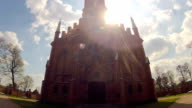 Church Kernave, Lithuania, time-lapse and tilt video