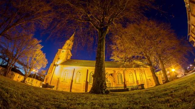 Church of Christ at night,Norway video
