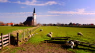 Church of Den Hoorn on Texel island in The Netherlands video
