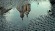 Church of Sant'Angese in Agone water reflection video