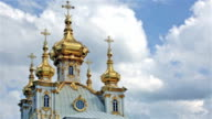 Church of the Holy apostles Peter and Paul in Peterhof, Russia video