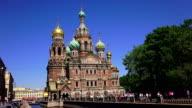 Church of the Savior on Blood in St. Petersburg. 4K. video