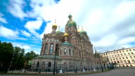 Church of the Savior on the Spilled Blood. St. Petersburg. Russia. timelapse video