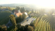 AERIAL Church On Top Of A Vineyard video