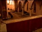 church ruins steadicam video