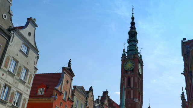 Church Steeple Europe Old Cathedral, Travel Architecture, Blue Sky video