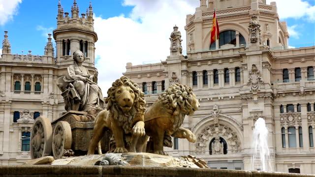 Cibeles Square, Madrid(3 different shot) video
