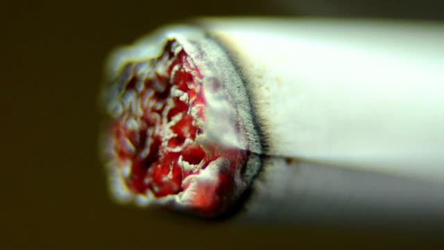 Cigarette burning video