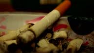 Cigarette time-lapse video