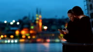 HD- Cinemagraph Istanbul Romantic Couple River View Parallax video