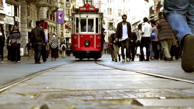 HD - Cinemagraph Istanbul Taskim Street Crowd video