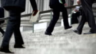 HD - Cinemagraph NYC Court House Stairs with White Collar On the Go video