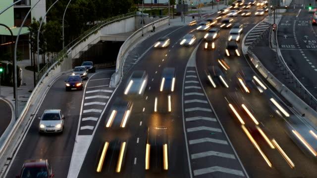 Cinemagraph of traffic scene  at dusk.Long Exposure. video