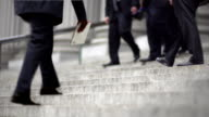 CINEMAGRAPH-New York Men Down Business Stairs video