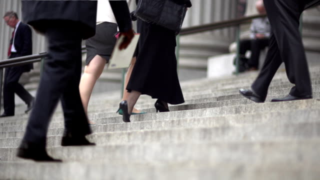 CINEMAGRAPH-New York Woman Business Stairs video