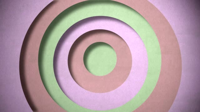 3D circle background video