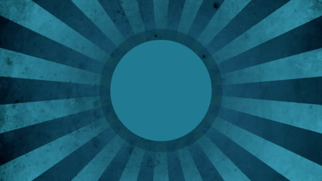 Circle Blue Vintage Loop Background 4K video