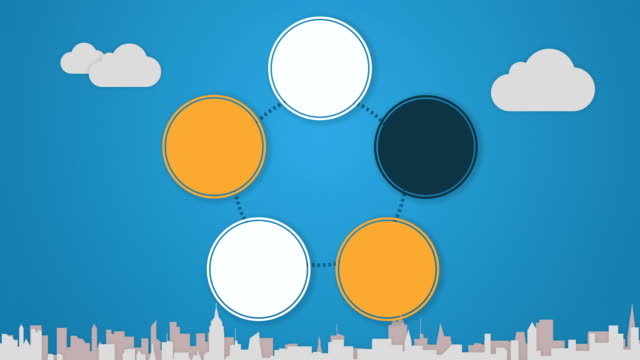 Circle diagram animation for Powerpoint presentations 5 video